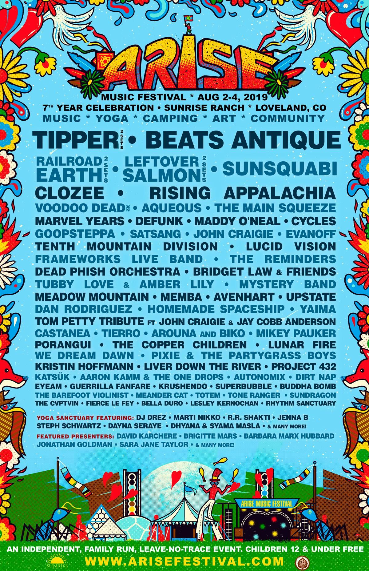 Arise Fest line up-1