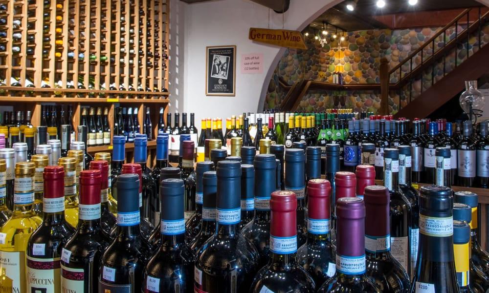 Beaver Liquor wine cellar